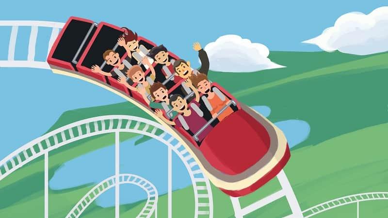 цена на биткойн roller coaster